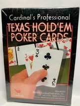 Cardinal's Professional Texas Hold Em Poker Playing Cards NEW & Sealed - $8.41
