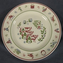 Eight Maids Milking Salad Plate Johnson Brothers Twelve Days of Christmas  - $14.95