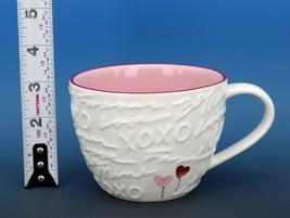 Collectible Starbucks Porcelain China Coffee Mug 2007 12oz XOXO Love Pink