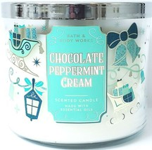 Bath & Body Works Chocolate Peppermint Cream 3 Wick Candle 14.5 oz. 2019... - $27.72
