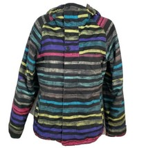 Burton Dryride Jacket Womens Winter Ski Snowboard Mulicolor Striped Coat... - $54.44