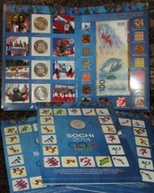 Olympic and XI Paralympic winter games of 2014 in Sochi. Album and coins. - $19.50