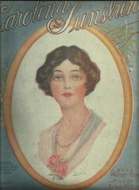 1919 Carolina Sunshine Piano Vocal Art by Barbelle Antique Vintage Sheet... - $7.95