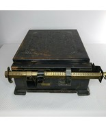 Vintage Cast Iron Triner All Steel Parcel Post Postage Scale 100 Lb Capa... - $180.64