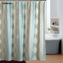 UFRIDAY Retro Novelty Pattern Shower Curtain Thickened Polyester Green Leaf Patt - $36.99