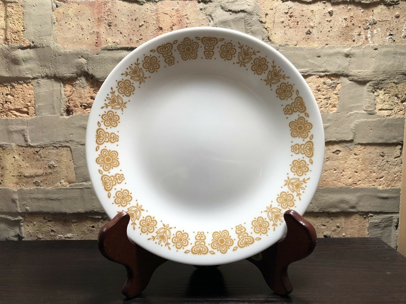 Corelle Gold Butterfly Bread Butter Dessert Plate White By Corning Ware 7 inch - $6.00