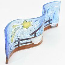 Fused Art Glass Christmas Nativity Star Wavy Décor Sun Catcher Handmade Ecuador image 3