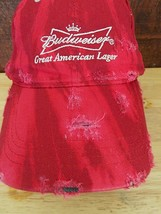 Authentic Budweiser Hat Custom Destroyed Hand Distressed Ripped Dyed Gru... - €14,01 EUR
