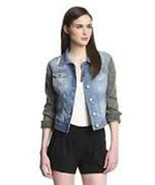 Walter Baker DENIM Jeans JACKET Grayson BLUE Black S $188 Free Shipping  - $129.95