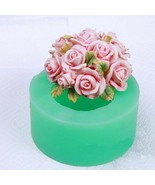 Rose Flower Silicone Mould Roses Candles Soap Making Aroma Stone Candy C... - $18.69