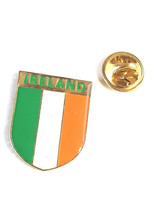 ireland tricolour shield Flag Lapel Pin Badge / tie pin. in gift box enamel fini