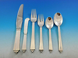 Pyramid by Georg Jensen Danish Sterling Silver Flatware Set Service 50 p... - $8,995.00