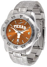 Texas Longhorns Men Steel Sport AnoChrome Watch - $78.38