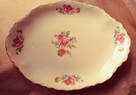 "Scio Pottery Hazel Platter 1940's 10"" X 7 1/2"" - $12.00"