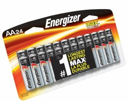 Energizer AA Batteries, Double A Battery Max Alkaline (24 Count) E91BP-24 - $16.72