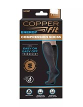 Copper Fit Easy On Compression Unisex Socks 2 Pack L/XL - $14.54