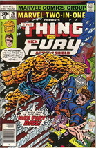 Marvel Two-In-One Comic Book #26 The Thing and Nick Fury Marvel 1977 VER... - $2.25