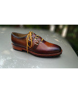 Handmade brown shoes, formal two tone shoe, jeans casual men boots, Dres... - $169.97+