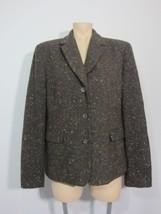Jones New York Blazer 14 Wool Blend Jacket Brown Speckled - $28.04