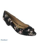 NIB Chinese Laundry Black Floral Peep Toe Pumps Women 8M - $28.71