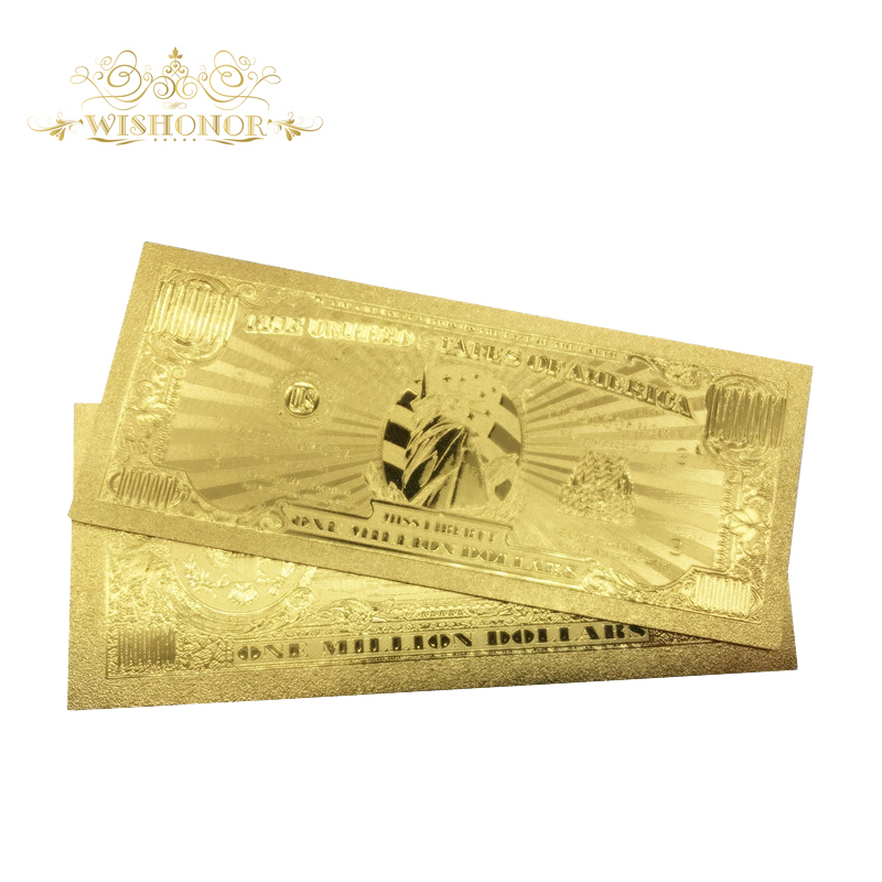 1 Million Dollar USA Banknote Bill in 24K Gold Paper Money For Perfect Gift !