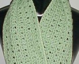 Hand Crochet Loop Infinity Circle Scarf/Neckwarmer #111 Sage New
