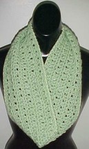 Hand Crochet Loop Infinity Circle Scarf/Neckwarmer #111 Sage New - $12.19