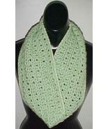 Hand Crochet Loop Infinity Circle Scarf/Neckwarmer #111 Sage New - $12.19