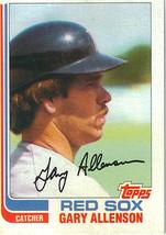 1982 Topps Gary Allenson Boston Red Sox #686 Baseball Card - $1.97
