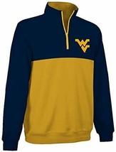 West Virginia Mountaineers 1/4-Zip Two-Color Fleece Pullover Jacket sz S... - $9.88