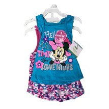 DISNEY MINNIE MOUSE 3 PIECES SET 12-24 MONTHS (12 MONTHS, BLUE/PINK) - $14.69