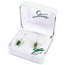 Storrs Genuine Jade Veritable Filigree Butterfly Hook Earrings image 3