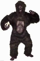Deluxe Gorilla Suit w/CHEST Adult Halloween Costume Body, Mask, Feet & Hands - $130.79