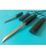 2 small  knives Knife Bamboo shape Filipino blade tribal Exqusite pendant - $36.14