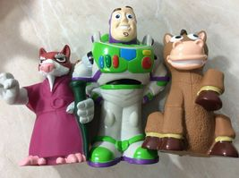 Disney Toy Story Figures with Carrying Bag 2014 Pixar Woody Buzz Hamm Lot of 7 image 6