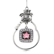 Inspired Silver Rodeo Girl Classic Snowman Holiday Christmas Tree Ornament With  - $14.69