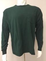 Hanes Tagless Long Sleeve T Shirt Dark Green Men Size L/G/G Large Preshr... - $22.53