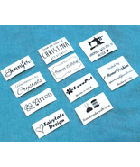 50x Custom iron on name tag clothing label handmade business Personalize... - $4.94+