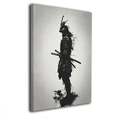 Martoo Art Armored Samurai Painted Framed Oil Paintings Printed On Canvas Wall f