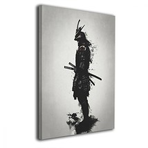 Martoo Art Armored Samurai Painted Framed Oil Paintings Printed On Canva... - $36.49