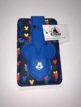 Disney Parks Mickey Mouse Balloons Clutch Slim Wallet 4 Card Holder Vinyl - $12.19
