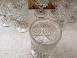 Set of 8 ANCHOR HOCKING WEXFORD WINE GOBLETS 5- 1/4 in. H     image 3