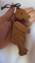 """Vintage hanging Wooden Bear Christmas Tree Holiday  Ornament Pre-owned 5"""" - $14.92"""
