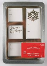 Lot of 3 Pack 75 Count Peel & Stick Holiday Christmas Gift Tags To From Stickers image 3