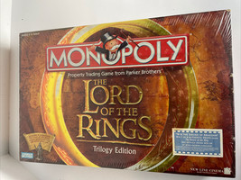 Monopoly Lord of the Rings Trilogy Edition Board Game SEALED 2003 Hasbro... - $48.96