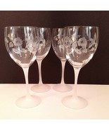 4 (Four) AVON HUMMINGBIRD Etched Crystal Water/Wine Glasses Made in France - $61.74