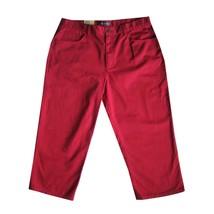 RALPH LAUREN JEANS Capri Crop Pants 14 NEW Classic Red Cotton Denim Women's - $26.78