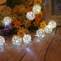 (10 LED white)10 LED Battery Operated Heart Shaped Christmas String Light F - $18.00