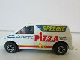 MATTEL HOT WHEELS DIECAST 1985 WHITE PIZZA DELIVERY VAN SPEEDIE  H2 - $7.83