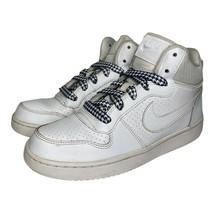 Nike Boys Court Borough Mid GS Basketball Shoes White 839977-100 2016 5.5 Y - $39.59